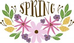 Spring Floral Border Print Art