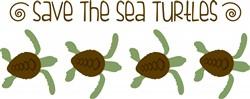 Save Sea Turtles Print Art