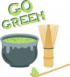 Green Tea Set Print Art