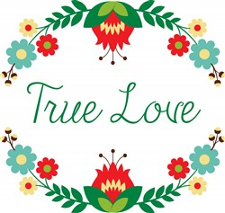 True Love Wreath Print Art