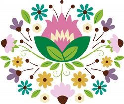 Floral Bouquet Print Art
