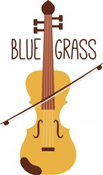 Blue Grass Fiddle Print Art