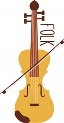 Folk Fiddle Print Art