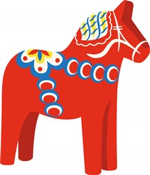 Swedish Dala Horse Print Art