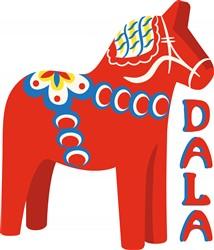 Swedish Dala Horse Print Art