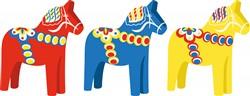 Dala Horses Print Art