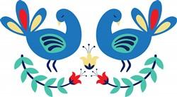 Bird Floral Border Print Art