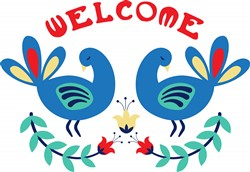 Welcome Bird Border Print Art