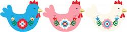 Chicken Border Print Art