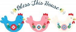 Bless Chicken Border Print Art