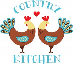 Country Kitchen Roosters Print Art