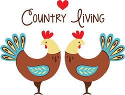 Country Living Roosters Print Art