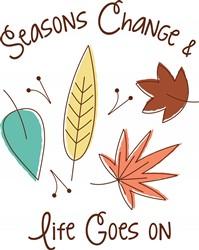 Seasons Change Leaves Print Art