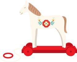Wooden Horse Print Art
