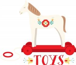 Wooden Horse Toy Print Art