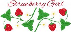 Strawberry Girl Border Print Art