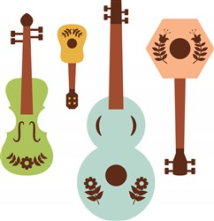 Folk Art Instruments Print Art