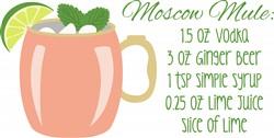 Moscow Mule Recipe Print Art