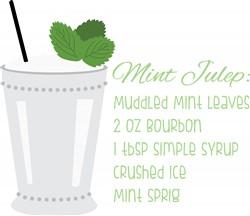 Mint Julep Recipe Print Art