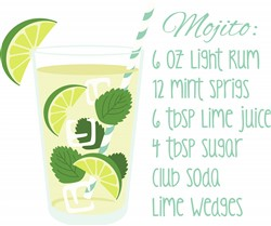 Mojito Recipe Print Art