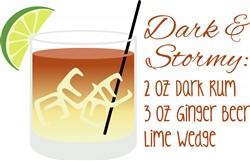 Dark & Stormy Recipe Print Art