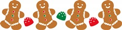 Gingerbread Border Print Art