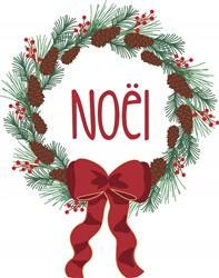 Noel Wreath Print Art