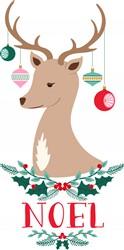 Noel Reindeer Print Art