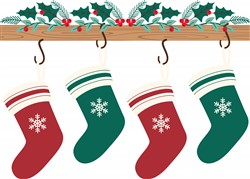 Holiday Stockings Print Art
