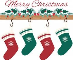 Christmas Stockings Print Art