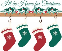 Home For Christmas Print Art