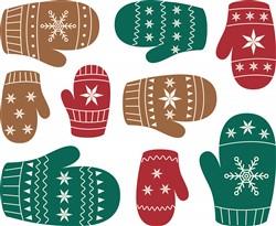 Winter Mittens Print Art