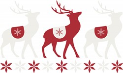 Winter Reindeer Print Art