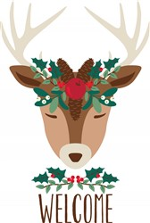 Welcome Reindeer Print Art
