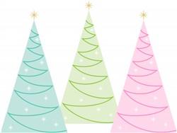 Holiday Trees Print Art
