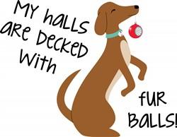 Dog Fur Balls Print Art