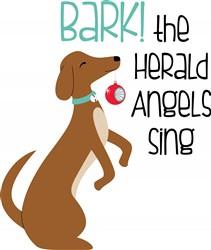 Bark Herald Angels Print Art