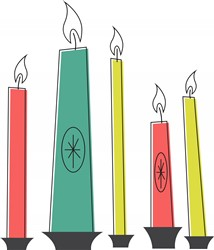 Holiday Candles Print Art