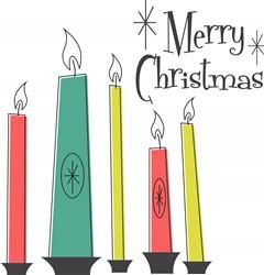 Christmas Candles Print Art