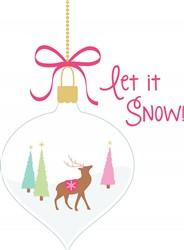 Let It Snow Print Art