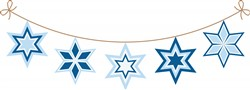 Star Of David Banner Print Art