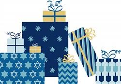 Hanukkah Gifts Print Art