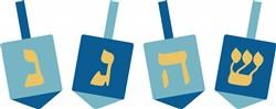 Hanukkah Dreidel Print Art