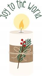 Joy Candle Print Art