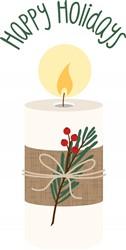 Happy Holidays Candle Print Art