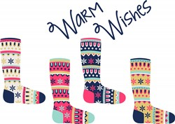 Warm Wishes Socks Print Art