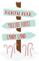 Christmas Sign Post Print Art