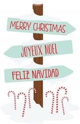 Holiday Sign Post Print Art