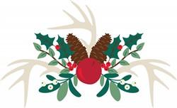 Christmas Antlers Print Art