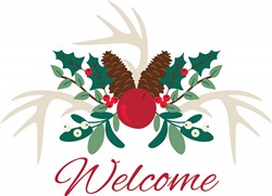 Christmas Welcome Print Art